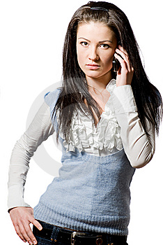 Young Woman Talking On The Cell-phone Royalty Free Stock Images - Image: 8304589