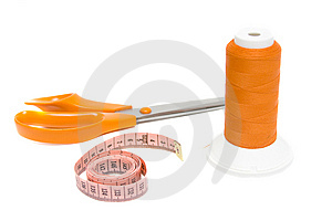 Tape Measure And Shears Stock Photography - Image: 8305612