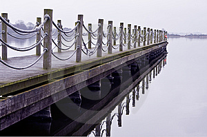 Wooden Jetty On A Cold Lonely Morning Stock Photos - Image: 8306743