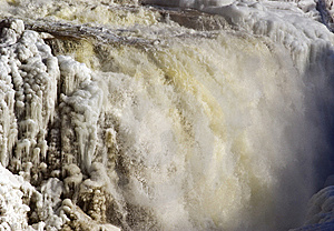 Partly Frozen Waterfall. Royalty Free Stock Photo - Image: 8307905
