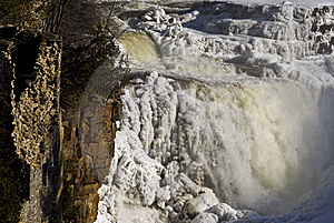 Waterfall In Winter Stock Images - Image: 8307914
