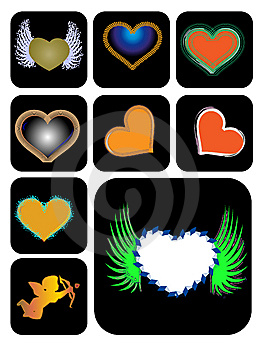 Different Kinds Of Heart Shape Stock Photos - Image: 8308803