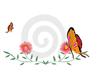 Butterfly And Flower Royalty Free Stock Photography - Image: 8308847