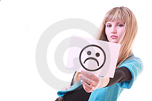 Girl With Sad Smile Stock Image - Image: 8309041