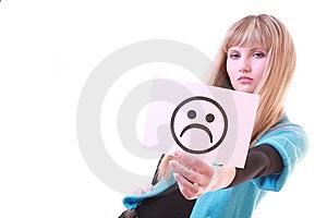Girl With Sad Smile Stock Image - Image: 8309041