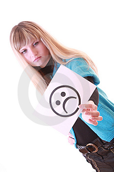 Girl With Sad Smile Stock Images - Image: 8309044