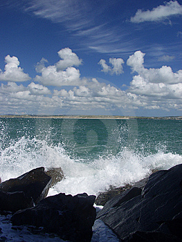 Waves Breaking By St. Ives, England Stock Image - Image: 8309271