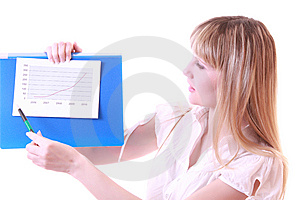 Woman Showing Positive Chart Stock Photography - Image: 8309852