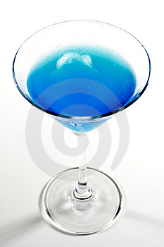 Blue Alcoholic Cocktail Royalty Free Stock Photos - Image: 8310428