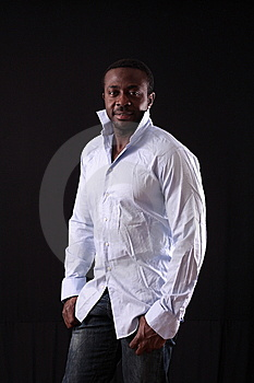 Man In Studio Stock Image - Image: 8310461