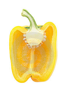 Yellow Sweet Pepper On A White Background Stock Image - Image: 8311691