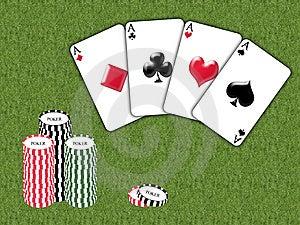 Aces Poker Royalty Free Stock Image - Image: 8313326