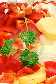 Chopped Vegetables. Royalty Free Stock Images - Image: 8316419
