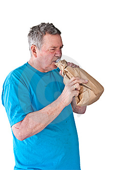 Distraught Mature Man Boozing Royalty Free Stock Images - Image: 8318869