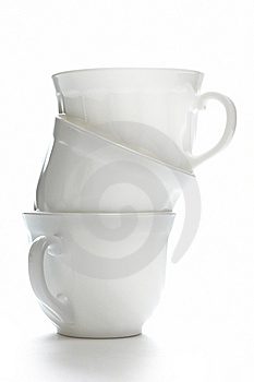 Isolated Coffee Cups Royalty Free Stock Photo - Image: 8319195