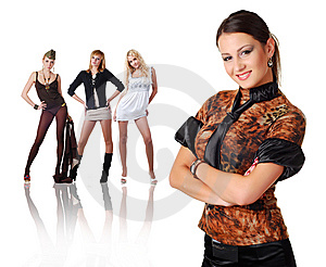 Four Woman Royalty Free Stock Photos - Image: 8320968
