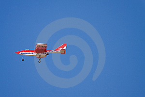 An R/C Model Jet Does A Flyby Stock Image - Image: 8321101