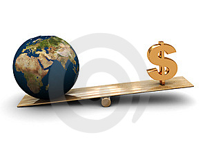 Earth And Money Stock Photography - Image: 8321102