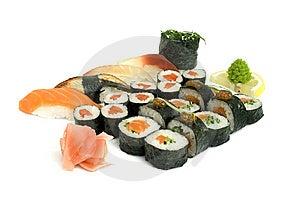 Assortment Of Sushi Royalty Free Stock Photography - Image: 8321787