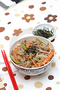 Prepared And Delicious Japanese Food-beef Rice Stock Photos - Image: 8322223