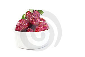 Bowl Of Fresh Strawberries Stock Photo - Image: 8322720