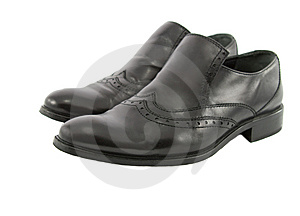 Black Male Leather Shoes Royalty Free Stock Photo - Image: 8323015