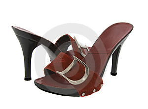 A Pair Of Sexy Red Women High-heel Shoes Royalty Free Stock Photo - Image: 8323025