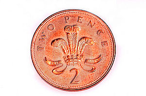 Two Pence Coin Stock Photos - Image: 8323133