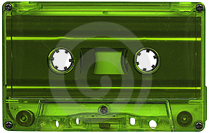 Green Cassette Tape Stock Photography - Image: 8325132