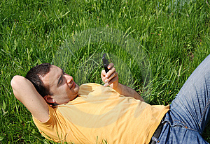 On The Phone Royalty Free Stock Photography - Image: 8325257