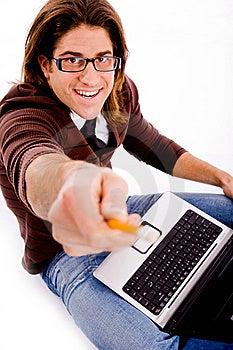 Side Pose Of Man Playing Videogame Royalty Free Stock Photo - Image: 8326265
