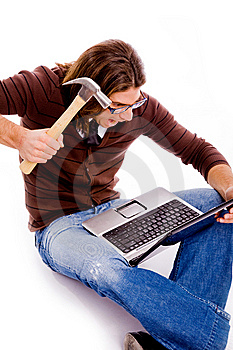 Side Pose Of Man Playing Videogame Stock Images - Image: 8326354