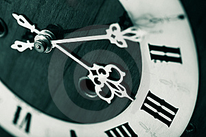 Antique Looking Clock Dial Stock Photo - Image: 8326420