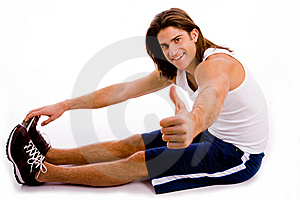 Portrait Of Powerful Man Showing Muscles Stock Photos - Image: 8326663