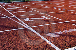 Starting Lane Royalty Free Stock Image - Image: 8326836