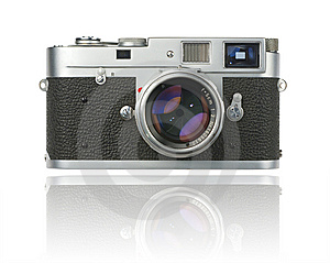 Rangefinder Camera With Clipping Path Stock Image - Image: 8327431