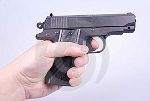 Pointing A Handgun Stock Images - Image: 8327934