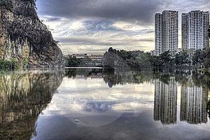 Batokbukit Guilin Little Parksingapore Town Fotografering för Bildbyråer - Bild: 8327951