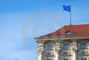 Building With European Union Flag Royalty Free Stock Photos - Image: 8328098