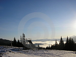 Morning Sky Is In Misty Mountains Royalty Free Stock Photos - Image: 8328178