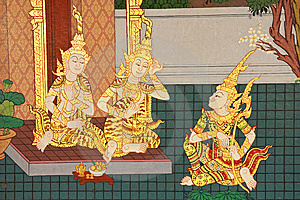 Details Of Thai Traditional Style Church Painting. Royalty Free Stock Images - Image: 8328329