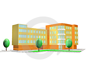 3D Rendering Of House Stock Photo - Image: 8328710