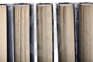 Row Of Old Leather-bound Books Stock Images - Image: 8330074