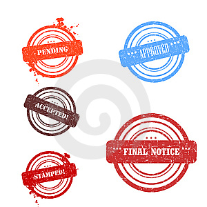 Set Fo Stamps Royalty Free Stock Photography - Image: 8330077