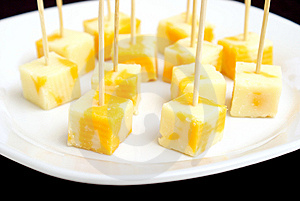 Cheese Cubes Royalty Free Stock Photos - Image: 8330398