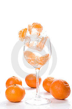 Tangerine Segments Stock Photography - Image: 8331052