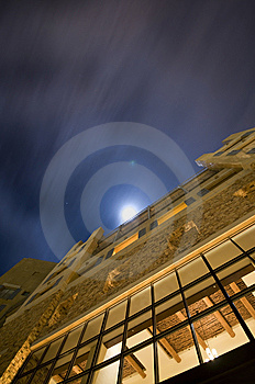 Building Under The Moonlight Royalty Free Stock Photos - Image: 8332518