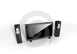 Home Theater / High Definition Television Stock Images - Image: 8333484