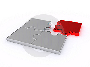 Puzzles On A White Background Royalty Free Stock Images - Image: 8333579