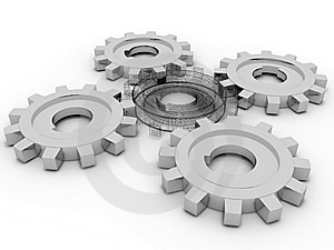Beautiful Gears Royalty Free Stock Photo - Image: 8333615